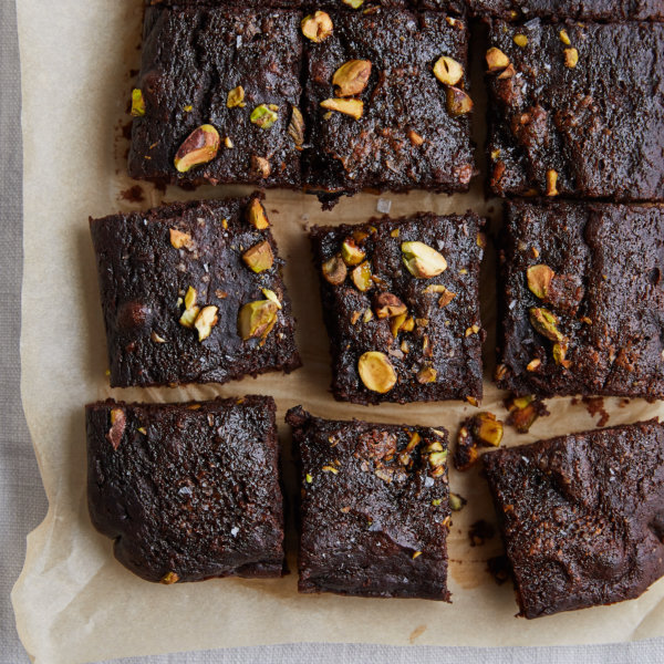 Beetroot and Pistachio Brownies