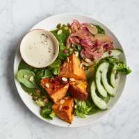 Sweet potato & tahini salad